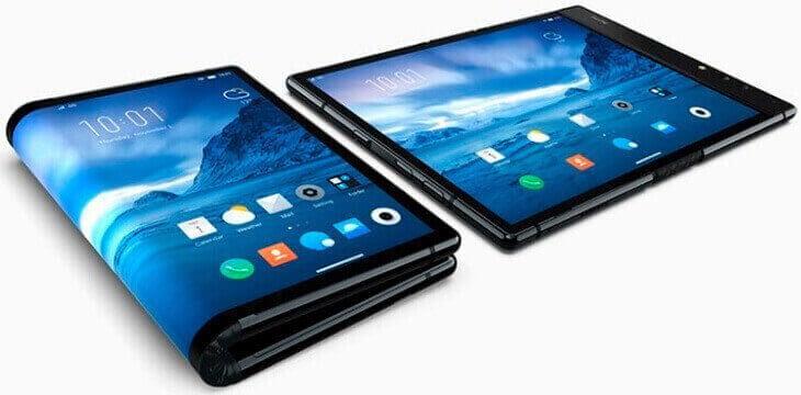 Samsung первый смартфон со складным экраном