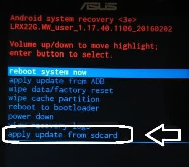 Recovery Asus